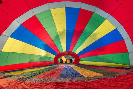 Balloon Ride Tissington Derbyshire
