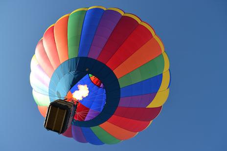 Ballooning Over Glastonbury Somerset